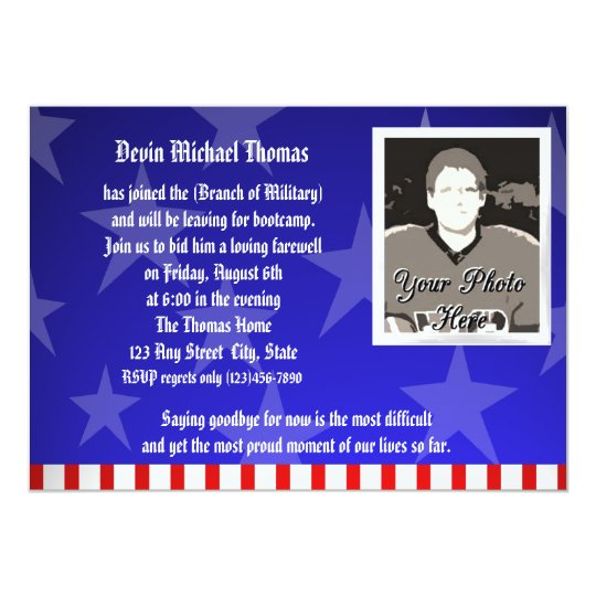 military going away party invitation zazzle com