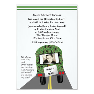 Military Going Away Party Custom Invites