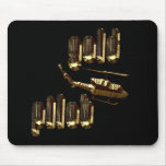 Military gold pilot mouse pads