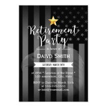Military Gold Star Bald Eagle US Flag Retirement Invitation