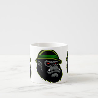 Military Gorilla Head Espresso Cup