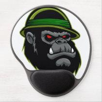 Military Gorilla Head Gel Mouse Pad