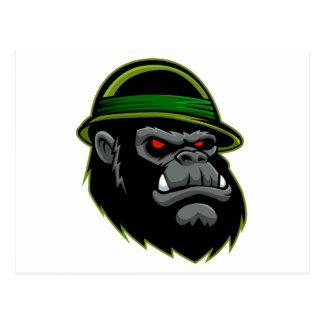 Military Gorilla Head Postcard