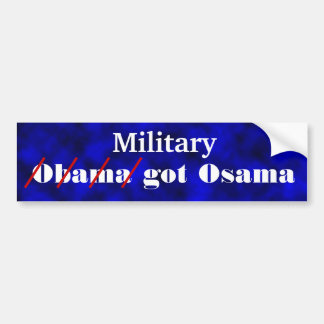 Military Got Osama Car Bumper Sticker