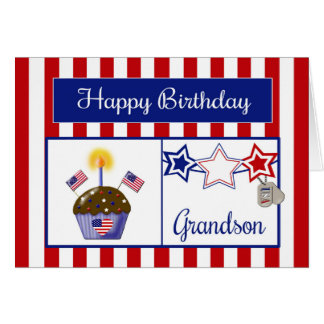 Military Grandson Birthday Card
