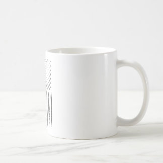 Military Gray Armerican flag Vintage Coffee Mug