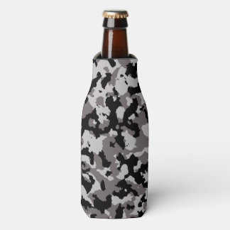 Military Gray Camouflage Pattern Bottle Cooler