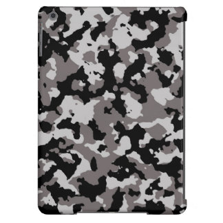 Military Gray Camouflage Pattern iPad Air Cases