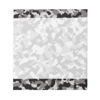 Military Gray Camouflage Pattern Notepad