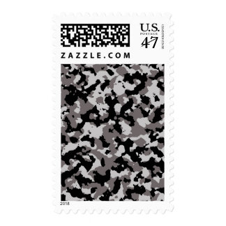 Military Gray Camouflage Pattern Postage