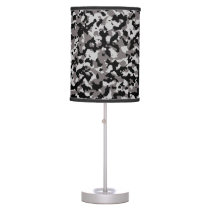 Military Gray Camouflage Pattern Table Lamp