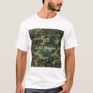 Military Green Camo Adult T-Shirt