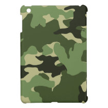 Military Green Camo Camouflage iPad Mini Cases
