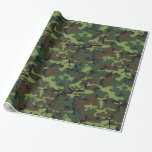 Military Green Camo Gift Wrap Paper