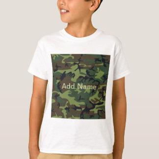 Military Green Camo Kids T-Shirt