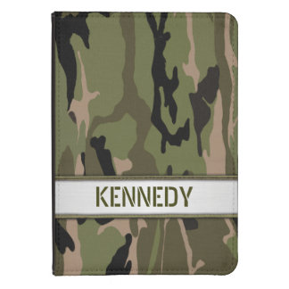 Military Green Camo Name Template Kindle Touch Cover