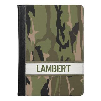 Military Green Camo Name Template iPad Air Case