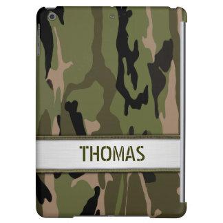 Military Green Camo Name Template iPad Air Cover