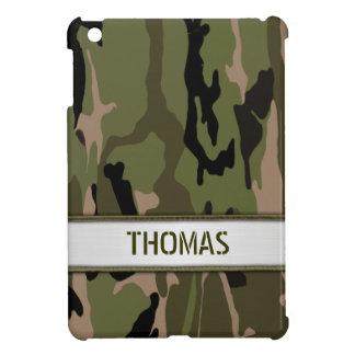Military Green Camo Name Template iPad Mini Cover