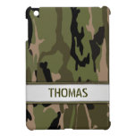 Military Green Camo Name Template iPad Mini Cover