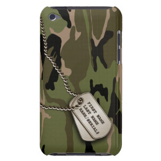 Military Green Camo w/ Dog Tag iPod Case-Mate Cases