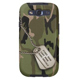 Military Green Camo w/ Dog Tag Galaxy SIII Covers