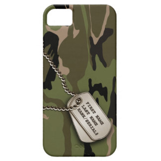 Military Green Camo w/ Dog Tag iPhone SE/5/5s Case