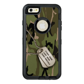 Military Green Camo w/ Dog Tag OtterBox iPhone 6/6s Plus Case