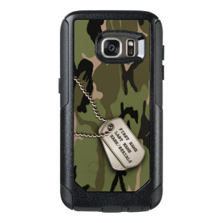Military Green Camo w/ Dog Tag OtterBox Samsung Galaxy S7 Case