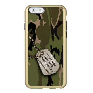Military Green Camo w/ Dog Tags Incipio Feather Shine iPhone 6 Case