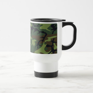 Military Green Camouflage 15 Oz Stainless Steel Travel Mug