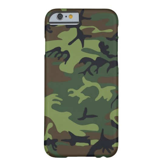 Military Green Camouflage Barely There iPhone 6 Case