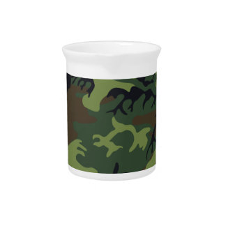 Military Green Camouflage Beverage Pitchers