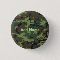 Military Green Camouflage Button