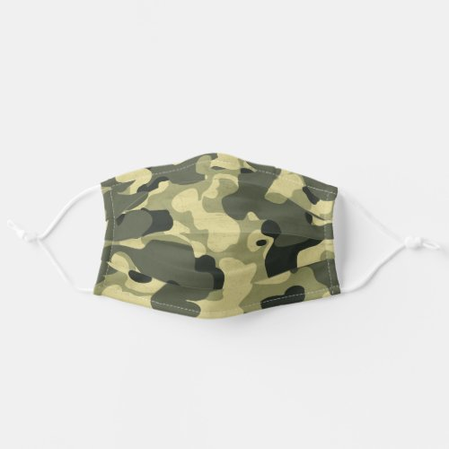 Military Green Camouflage Camo Pattern Adult Cloth Face Mask