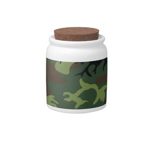 Military Green Camouflage Candy Dish