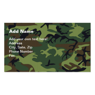 Military Green Camouflage Double-Sided Standard Business Cards (Pack Of 100)