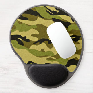 military green camouflage gel mouse mat