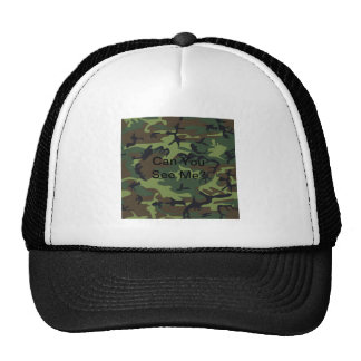 Military Green Camouflage Trucker Hat