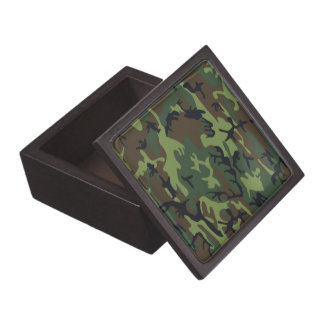 Military Green Camouflage Jewelry Box