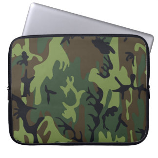 Military Green Camouflage Laptop Computer Sleeve