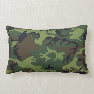 Military Green Camouflage Lumbar Pillow