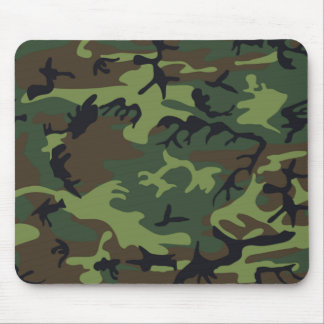 Military Green Camouflage Mouse Pad