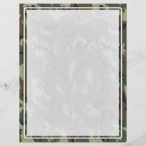 Military Green Camouflage Pattern