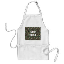 Military Green Camouflage Pattern Adult Apron