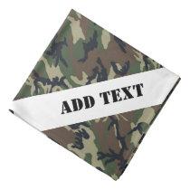 Military Green Camouflage Pattern Bandana