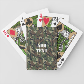 Military Green Camouflage Pattern Bicycle Playing Cards