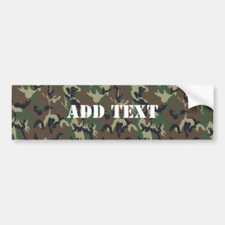 Military Green Camouflage Pattern Bumper Sticker