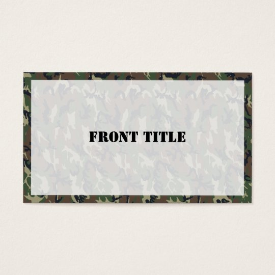 Military Green Camouflage Pattern Business Card