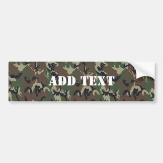 Military Green Camouflage Pattern Car Bumper Sticker